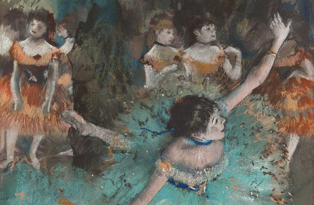 Edgar Degas. Bailarina basculando (Bailarina verde)
